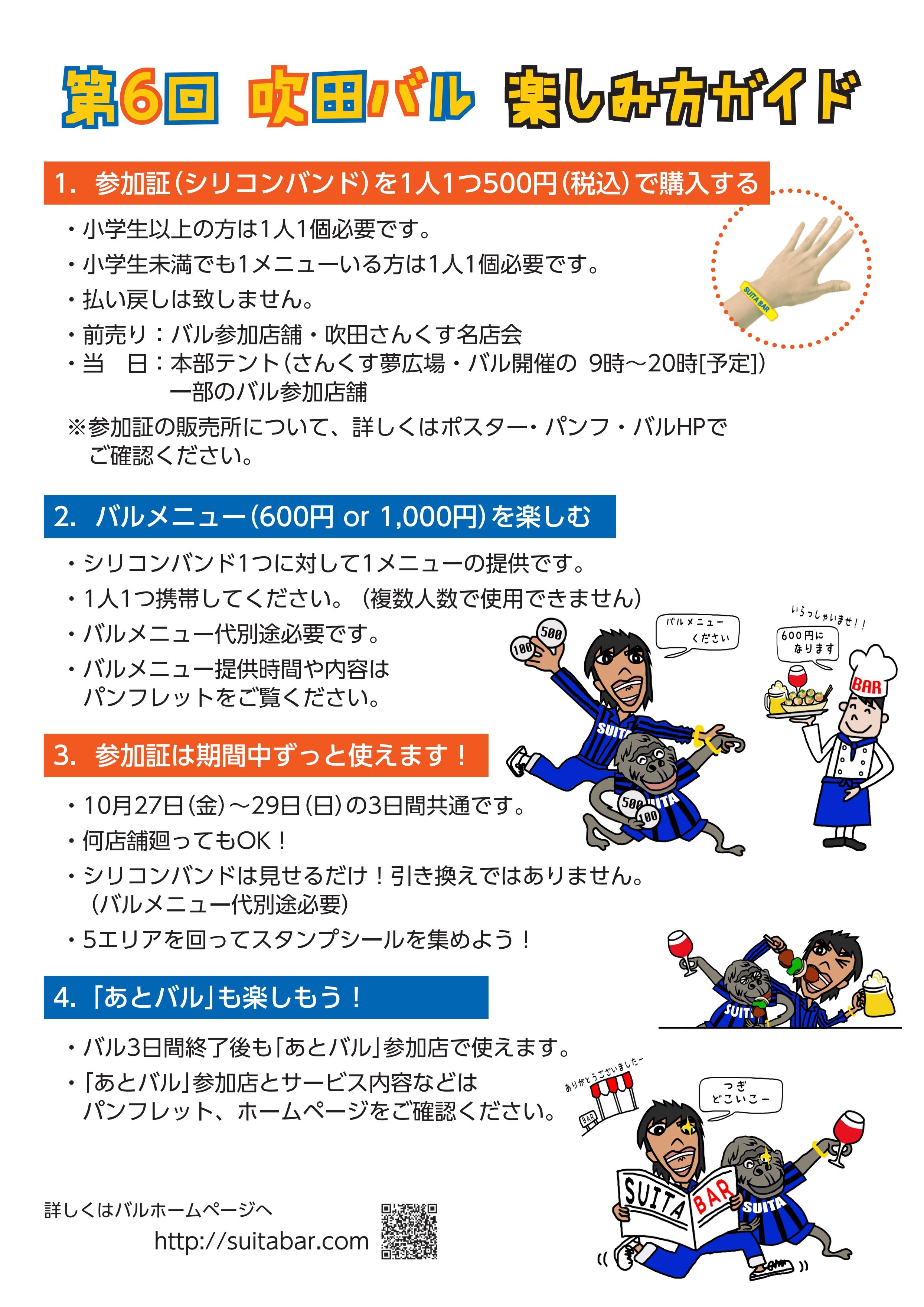 第6回吹田バル 楽しみ方ガイド