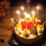 サンタがケーキ2019-3